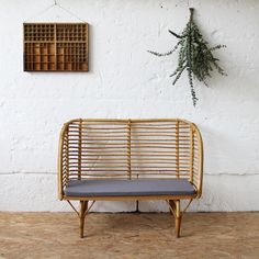 rattan bench on atelierdupetitparc.fr