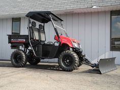 Another summer snow plow setup. Dennis Campbell's Landmaster LM400 with Cycle Country snow plow and KFI winch is ready for delivery. See more American SportWorks side-by-side UTVs at: http://www.powerequipmentsolutions.com/products-a-services/online-store/utvs-and-atvs-new-a-used/american-sportworks.html #AmericanSportWorks #Landmaster #LM400 #sidebyside #UTV #snowplow #cyclecountry #AmericanMade #madeinUSA