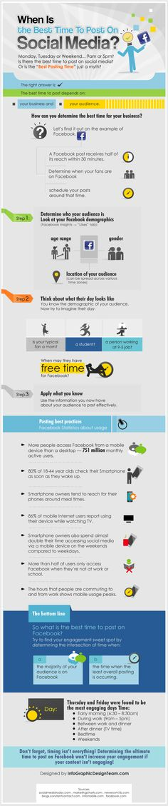 What is the Best Time to Post on Facebook [INFOGRAPHIC]  #Facebook #infographic #SocialMedia