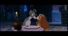 """Walt Disney originally didn't want to include the """"Bella Notte""""; spaghetti-eating scene, now one of the most iconic moments in the whole Disney canon."""