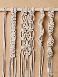 Follow this easy step-by-step guide to tying four must-know macramé knots.