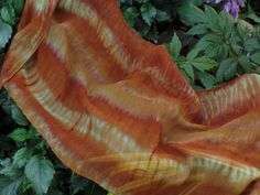 Shibori Scarf Hand Dyed Silk Chiffon in by FlingamoScarves on Etsy