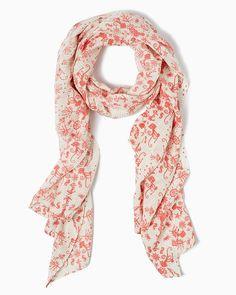 Deep Sea Damask Scarf | UPC: 410007305440 Bold Blush, Coral, COTM
