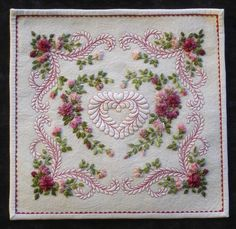 "I ❤ quilting & embroidery. . . ""Exquisite"", Sweetheart designed and created ~ By Kumiko Frydi"