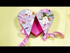 DIY Heart shaped gift box! Gift box in the shape of heart! Valentine's ideas - YouTube