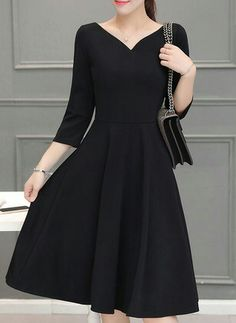 Perfect dress for a cold fall graduation ceremony. Modest Fashion, Women's Fashion Dresses, Dress Outfits, Pretty Outfits, Pretty Dresses, Beautiful Dresses, Simple Dresses, Casual Dresses, Short Dresses