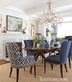 Bold Color In A New England Home