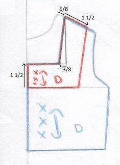 En realidad esto es un escote, un escote es el corte hecho a una prenda en la parte del cuello, este escote lo llamaremos escote cuadrado  ...