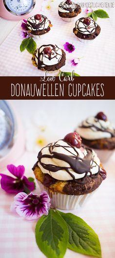 Köstliche Low Carb Donauwellen Cupcakes www.lowcarbkoestlichkeiten.de #lowcarb #lchf #diät #abnehmen