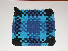 100 Cotton Loop Kitchen Potholder Black Blue Turquoise | eBay