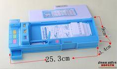 Pequeno geeks de papelaria multifuncional caixa de lápis caixa de dupla face de presente criativo 25 * 9 * 3.5 cm cor aleatória em Estojos de Escritório & material escolar no AliExpress.com | Alibaba Group