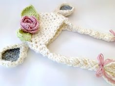 Crochet Lamb Hat / Photo Prop