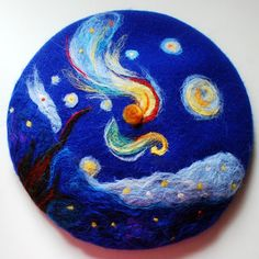 Original handmade Vincent van Gogh's Starry Night by MoonBeret