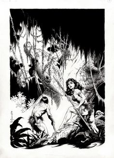 Comic Art For Sale from RomitaMan Original Art, Mark Schultz 'Strange Fantasies' Pinup (1990) by Comic Artist(s) Mark Schultz