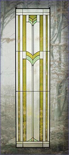 Arts and Crafts Tall Prairie Tulip Window Art Glass Panel MGR013