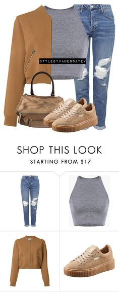 """#722"" by vanessayev ❤ liked on Polyvore featuring Topshop, Acne Studios and Puma"