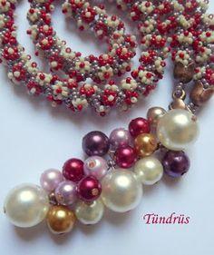 Klárik Tünde Modern Gyöngyékszerek-------------Tünde Klárik Fashion Jewelry: hosszú lánc/lariat
