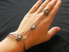 Southwest Bracelet Sterling+MOP Slave combination Ring/Bracelet