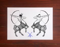 Centaurs custom tattoo design for Christian.