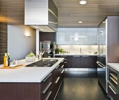 The Future of Backsplashes: Grout is out. Continuous sheets of glass, stone, metal and porcelain are saving cleaning time and offering more looks than ever