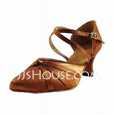 Dance Shoes - $28.99 - Satin Heels Modern Dance Shoes With Ankle Strap (053013025) http://jjshouse.com/Satin-Heels-Modern-Dance-Shoes-With-Ankle-Strap-053013025-g13025