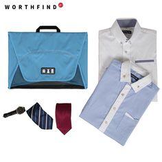 WORTHFIND 2016 New Travel Garment Folder Bag Business Shirt Packing Organizers Travel Accessories Travel Organizer For Ties