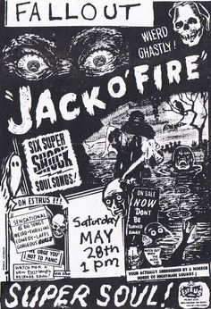Jack O'Fire gig flyer, design by Art Chantry