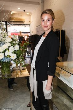 Whitney Port in black and white.
