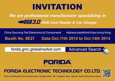 Welcome to visit us at China Sourcing Fair, Electronics & Components                                              Booth No.:   8E27                                              Address: AsiaWorld-Expo , Hong Kong                                              Exhibitation Time:  OCT 11th ~ 14th, 2014