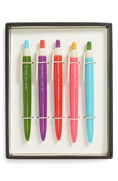 kate spade new york ballpoint pens (set of 5) available at #Nordstrom