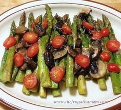 The Frugalista Mom's Allergy Friendly Home : Easy and Healthy Roasted Asparagus, Mushrooms & Grape Tomatoes