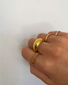 "Ellie Beatrice Joslin on Instagram: ""The line up today."" Nail Jewelry, Cute Jewelry, Gold Jewelry, Jewelry Rings, Jewlery, Jewelry Accessories, Fashion Accessories, Fashion Jewelry, Jewelry Design"