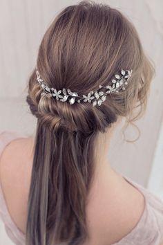 Bridal hair vine Crystal bridal headpiece Crystal by EoliBridal