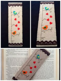 Handmade bookmark  - felt