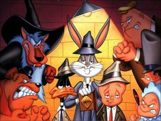 """The Untouchables, Looney Tunes style :) """"remember when Bugs Bunny played Elegant Mess? Looney Toons, Looney Tunes Cartoons, Cool Cartoons, Cartoon Shows, Cartoon Art, Cartoon Characters, Cartoon Network, Bugs Bunny Pictures, Looney Tunes Wallpaper"""