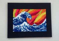 The Great Wave off Kanagawa perler beads - Google Search