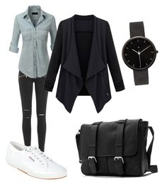 gemeh outfit by gemeh on Polyvore featuring polyvore fashion style LE3NO Paige Denim Superga I Love Ugly clothing