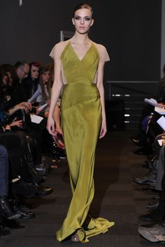nyfw fall 2012 rtw carmen marc valvo. like the cutout look without having bare cutouts- hides surgery scars.