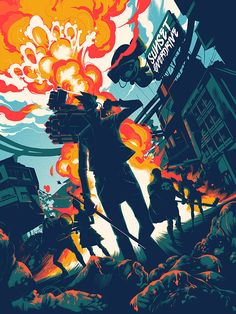 Matt Taylor | Sunset Overdrive | illustrator and comic artist based in the Sussex countryside who spends his days crafting expansive, sometimes psychedelic, Americana inspired illustrations with a nod to classic comic book art of the fifties and sixties.