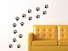 Coole Tiger- oder Hundepfoten für Wand, Boden unvm.!