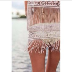 Sexy boho style, Bohemian fashion trend, modern hippie fringe swim suit perfect for a gypsy summer. For more BOHO chic FOLLOW http://www.pinterest.com/happygolicky/the-best-boho-chic-fashion-bohemian-jewelry-gypsy-/