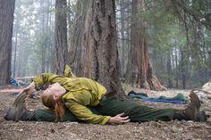 #Yoga In The#Forest  Here, Forest Service #firefighter Athene Eisenhardt enjoys a Hindu-based yoga asana practice.