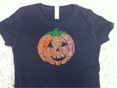Jack o Lantern Fall Pumpkin / Halloween Shirt by Ilove2sparkle, $16.99