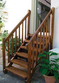 Außentreppe Holz Treppe Aussen Holzaußentreppe