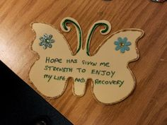 Butterflies with affirming quotations about Hope -- one of the five WRAP key Concepts