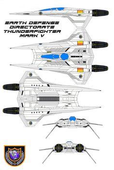 buck rogers in the 25th century - Thunder Fighter mark V by bagera3005.deviantart.com on @deviantART