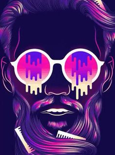 Patrick Seymour on Behance Graphic Design Illustration, Digital Illustration, Graphic Artwork, Graphic Design Lessons, Custom Neon Signs, Skateboard Art, Love Wallpaper, Fantastic Art, Urban Art