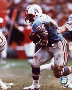 Earl Campbell - he was just hanging out in his sports gear shop in Houston. We got autographs.