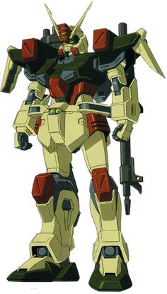 The GAT-X103 Buster Gundam is a prototype artillery mobile suit, the unit is featured in the anime series Mobile Suit Gundam SEED.