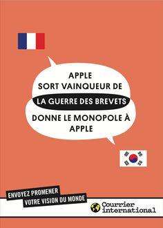 Courrier International. Envoyez promener votre vision du monde. Apple. BETC Paris, 2012